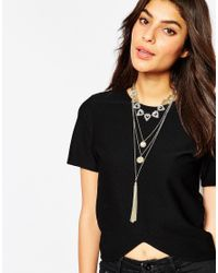 Oasis | Metallic Pretty Filigree Multirow Necklace | Lyst