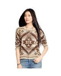 Denim & Supply Ralph Lauren - Natural Southwestern Cotton Sweater - Lyst