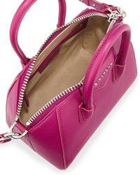 Givenchy   Purple Antigona Mini Leather Cross-Body Bag   Lyst