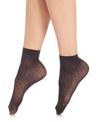 Wolford | Black Daria Socks | Lyst