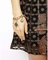 ASOS | Metallic Locket Charm Bracelet | Lyst
