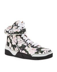 Givenchy - Multicolor Floral Hightop Sneaker for Men - Lyst