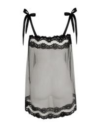 Agent Provocateur - Black Lacy Tulle and Lace Babydoll  - Lyst