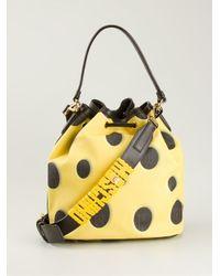 Moschino - Yellow Sponge Bob Duffle Bag - Lyst