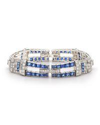 Fred Leighton - White Sapphire & Diamond Bracelet - Lyst