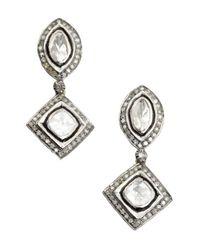 Amrapali - Metallic Diamond Drop Earrings - Lyst