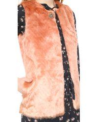 Maison Scotch - Multicolor Faux Fur Vest - Multi - Lyst