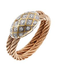 Charriol - Pink Women'S Classique 18K Yellow Gold Rose-Tone Steel Diamond .10Tcw Ring - Lyst