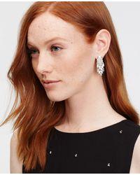 Ann Taylor | Metallic Crystal Baguette Drop Earrings | Lyst