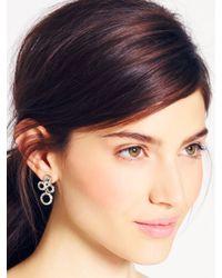 kate spade new york - Metallic Delicate Dots Chandelier Earrings - Lyst