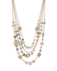 Saks Fifth Avenue | Multicolor Multi-chain Beaded Necklace | Lyst