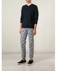 KENZO - Black Multi Logo Trousers for Men - Lyst