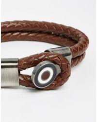 Simon Carter - Brown Leather Bracelet for Men - Lyst