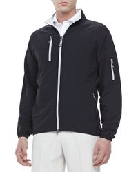 Peter Millar | Barcelona Waterproof Jacket Black for Men | Lyst