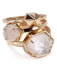 Kendra Scott | Pink Mariam Rings, Set Of 3 | Lyst