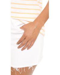Jennifer Zeuner   Metallic Theresa Hand Chain - Gold   Lyst