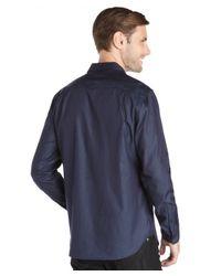 Elie Tahari - Blue Cotton Indigo Shirting 'steve' Shirt for Men - Lyst