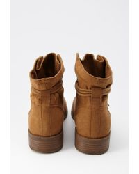 Forever 21 - Brown Faux Suede Ankle Booties - Lyst
