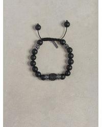 John Varvatos | Black Onyx Pave Roundel Bracelet for Men | Lyst
