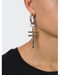 Ambush | Metallic Cross Earring | Lyst
