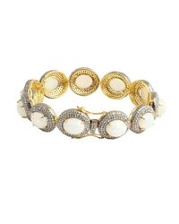 Amrapali - Metallic Diamond And Opal Bracelet - Lyst