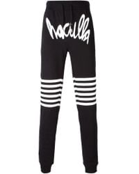 Haculla - Black Logo Print Track Trousers for Men - Lyst