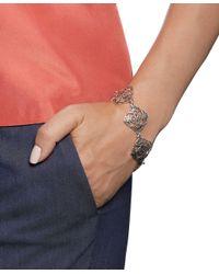 Brooks Brothers | Metallic Silver Filigree Drop Bracelet | Lyst