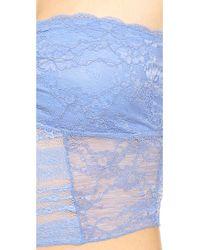 Free People - Galloon Lace Crop Bra - True Blue - Lyst