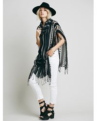 Free People | Multicolor Womens Katie Cowl Poncho | Lyst