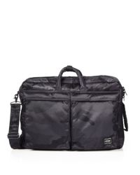 Porter | Black Three-Way Camo Briefcase for Men | Lyst