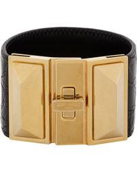Saint Laurent | Black Clous Punk Pyramid Bracelet | Lyst