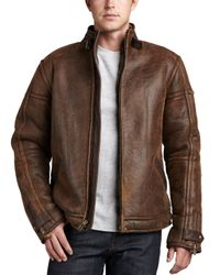 Ugg   Brown Refugio Shearling Jacket Chocolate for Men   Lyst