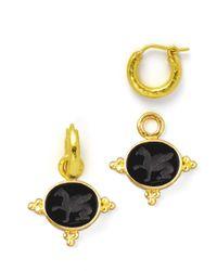 Elizabeth Locke | Metallic 19k Gold Grifo Venetian Glass Earring Pendants | Lyst