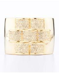 Ann Taylor - Metallic Pave Bar Cuff Bracelet - Lyst