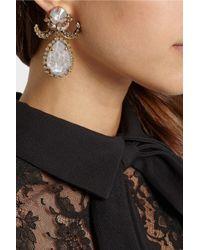 Erickson Beamon | Metallic Ringtone Gold-plated Swavorski Crystal Earrings | Lyst