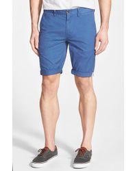 Ben Sherman - Blue Slim Fit Stretch Cuffed Shorts for Men - Lyst
