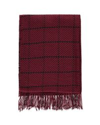 Forever 21 - Red Fringed Grid-patterned Scarf - Lyst