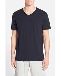 Daniel Buchler - Blue V-neck Cotton & Modal T-shirt for Men - Lyst