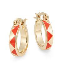 """House of Harlow 1960 - Orange Triangle Hoop Earrings/0.75"""" - Lyst"""