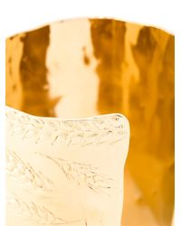 Aurelie Bidermann | Metallic 18kt Gold Plated 'francoise' Cuff | Lyst