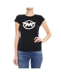 Matchless - Black T-Shirt Half Sleeve Crew-Neck Cotine Slub Logo - Lyst