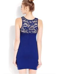 Forever 21 | Blue Sweet Side Bodycon Dress | Lyst