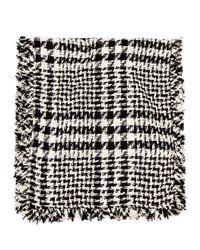 Simone Rocha | Black Embellished Wool-blend Scarf | Lyst