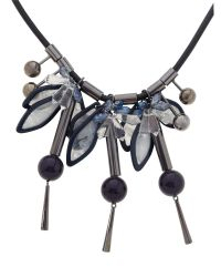 Max Mara | Blue Denaro Long Rope And Jewel Necklace | Lyst