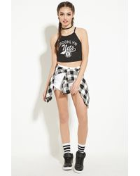 Forever 21 - White Brooklyn Nets Cropped Cami - Lyst