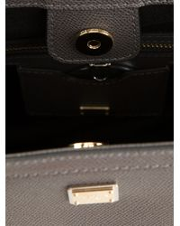 Dolce & Gabbana - Gray Top Handle Tote - Lyst