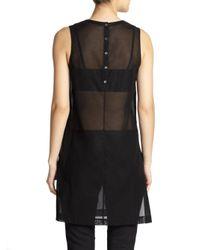 Theory - Black Pinga Sheer Cotton Tunic - Lyst
