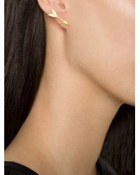 Marie-hélène De Taillac - Metallic 22kt Arrow Earrings - Lyst