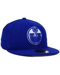 KTZ - Blue Edmonton Oilers C-dub 59fifty Cap for Men - Lyst
