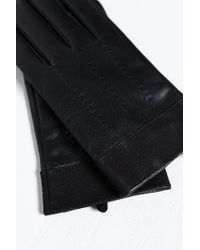 Urban Outfitters | Black Uo Leather Canvas Glove | Lyst